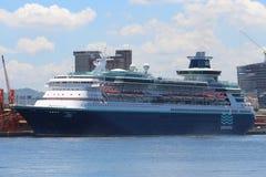 Transatlantic Cruise Season in Rio de Janeiro Stock Images