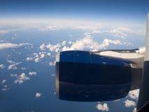 Transatlantic flight Stock Image
