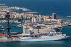 Transatlantic in Barcelona Spain Stock Photography