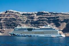 Transatlantic Santorini Royalty Free Stock Photo