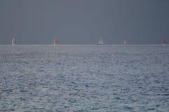 Transatlantisch ras van het Eiland Gran Canaria stock foto's