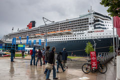 Transatlantische lijnboot RMS Queen Mary 2 Royalty-vrije Stock Afbeeldingen