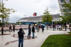 Transatlantische lijnboot RMS Queen Mary 2 Stock Foto