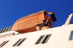 Transatlantisk fryst livräddningsbåtskrov Royaltyfri Foto