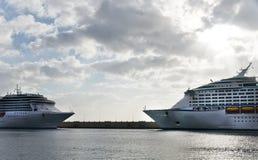 Transatlantiskt i port Royaltyfri Fotografi