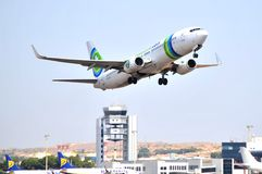Transavia boeing 737-700 airlines company with the Stock Image