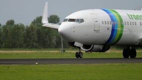 Transavia Boeing 737 landning arkivfilmer