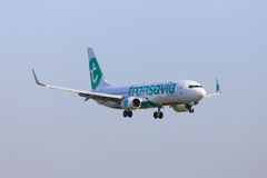 Transavia jet new livery Stock Images