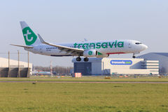 Transavia jet new livery Royalty Free Stock Photo