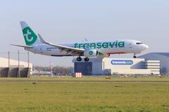 Transavia jet new livery Royalty Free Stock Photo