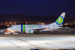 Transavia jet ready for departure Stock Photo