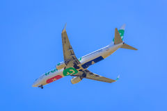 Transavia jet underside Royalty Free Stock Photo