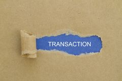 transazione Immagini Stock Libere da Diritti