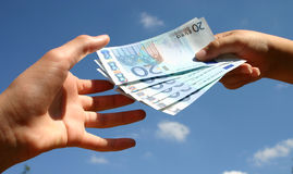 Transazione in denaro contante Immagine Stock Libera da Diritti