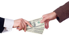 Transazione di affari. Isolato Immagine Stock Libera da Diritti