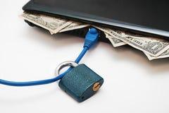 Transazioni del Internet sicuro Immagini Stock