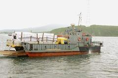 Transbordador cargado. Imagen de archivo libre de regalías