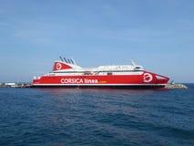 Transbordador de Córcega Linea Fotos de archivo