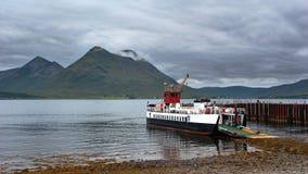 Transbordador de coche de la isla Foto de archivo