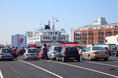 Transbordador de coche de Portsmouth Imagen de archivo