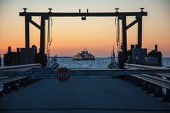 Transbordador de Currituck de la salida del sol Fotos de archivo