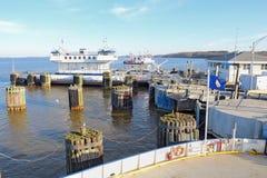 Transbordador de Jamestown-Escocia en Surrey, Virginia fotos de archivo libres de regalías