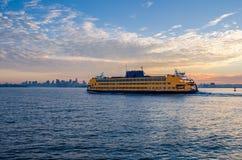 Transbordador de la isla de Staten Foto de archivo