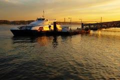 Transbordador de la puesta del sol Imágenes de archivo libres de regalías