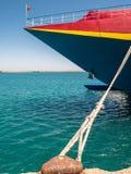 Transbordador de pasajero del catamarán en el puerto de Heraklion Fotos de archivo