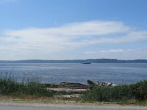 Transbordador de Puget Sound Foto de archivo libre de regalías