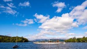 Transbordador de Windermere del lago: Golondrina de mar imágenes de archivo libres de regalías