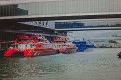 TRANSBORDADOR DEL AGUA EN HONG KONG imagen de archivo libre de regalías