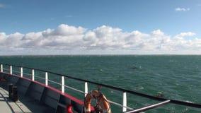 Transbordador del barco del buque de carga en Patagonia
