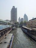 Transbordador del canal en Bangkok Foto de archivo