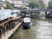 Transbordador del canal en Bangkok Imagen de archivo libre de regalías