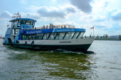Transbordador del puerto de Hamburgo imagen de archivo libre de regalías