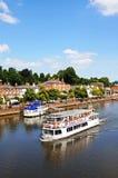 Transbordador del río, Chester Fotografía de archivo