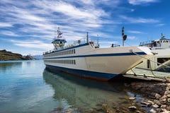 Transbordador en Chile Chico Imagenes de archivo