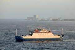 Transbordador en el mar Imágenes de archivo libres de regalías