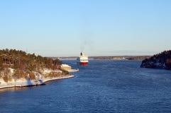 Transbordador en el mar Báltico Fotografía de archivo libre de regalías