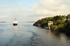Transbordador en el mar Báltico Foto de archivo libre de regalías