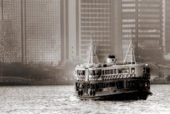 Transbordador en el puerto de Victoria en Hong-Kong Imagen de archivo libre de regalías