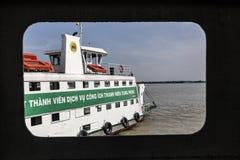 Transbordador en el río de Saigon Imagen de archivo