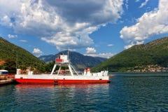 Transbordador en la bahía de Kotor Imágenes de archivo libres de regalías