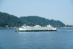 Transbordador en Puget Sound imagen de archivo libre de regalías