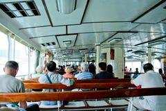 Transbordador en Victoria Harbour Hong Kong Fotos de archivo