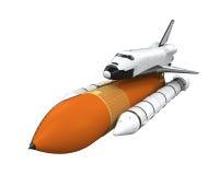 Transbordador espacial aislado ilustración del vector