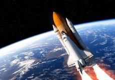 Transbordador espacial en espacio libre illustration