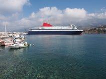 Transbordador griego imagen de archivo