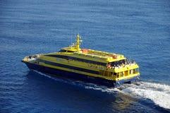 Transbordador que sale de Cozumel, México Foto de archivo libre de regalías